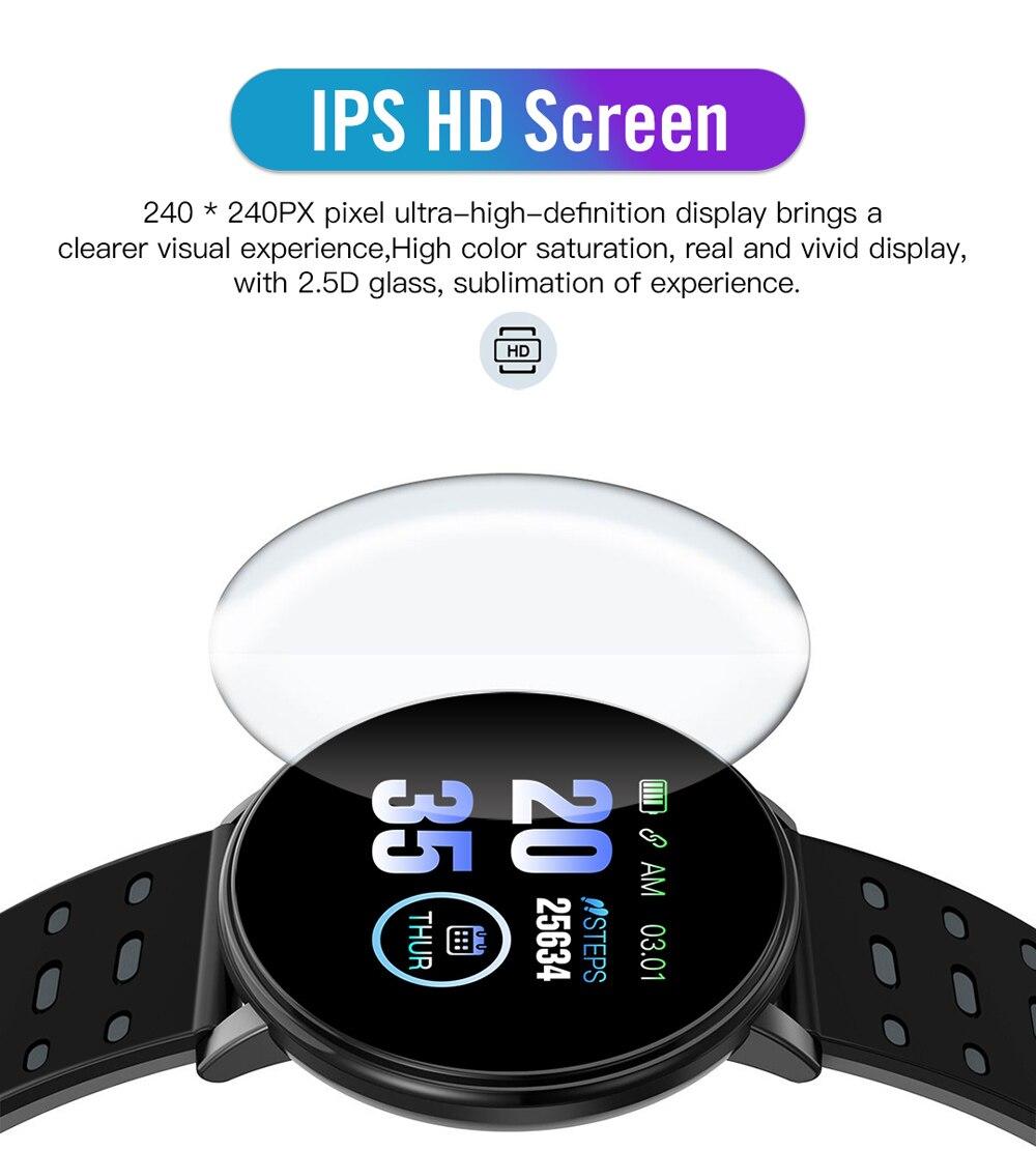 He4cfd4d8546b48e8acda931d586bac8cy Fitness Bracelet Blood Pressure Measurement Smart Band Waterproof