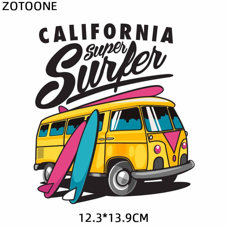 Zotoone carro bus carta remendos meninas sexy adesivo para crianças ferro em transferências para roupas camiseta diy apliques de transferência de calor g