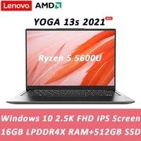 Nova lenovo yoga 13s 2021 portátil amd ryzen 5 5600u 16gb ram 512gb/1tb ssd 13.3 polegada fhd ips tela notebook computador ultrafino
