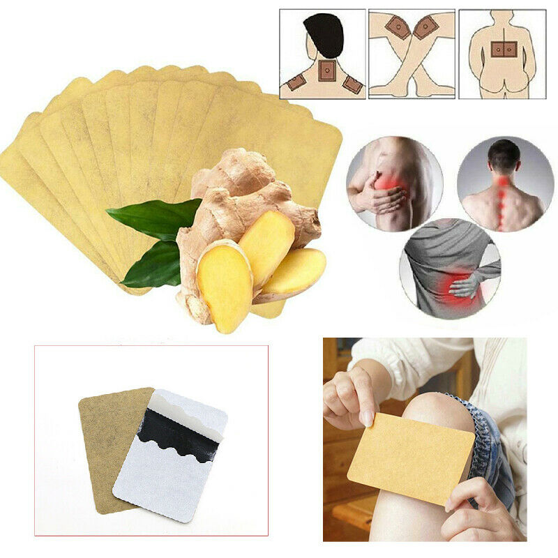 10PCS Ginger Detox Patches Body Neck Knee Pad Herbal Pain Relief Health Care Body Detox Foot Patch Ginger Adhesive Pads TSLM1(China)