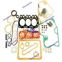 Per Mitsubishi L3E Overhaur Ri ring Kit Con Completo Guarnizioni Set Pistone Anello Set di Cuscinetti STD MX15 MM20 Mini motore Diesel Parte