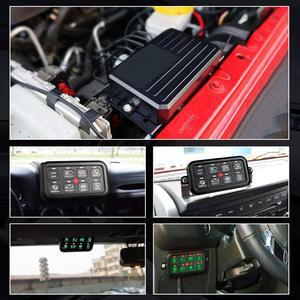 Image 3 - 8 Gang LED anahtarı paneli ince dokunmatik kontrol Panel kutusu ile kablo demeti ve etiket çıkartmaları araba tekne karavan