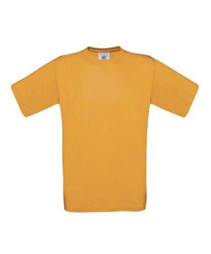 B&C Men's Exact 150 Crew Neck T-Shirt-Apricot-Medium-FREE SHIPPING