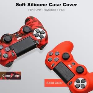 Image 5 - غطاء حافظة من السيليكون لجهاز سوني PS4 وحدة تحكم لجهاز PS4 غمبد جويستيك مع 2 thumbsticks غطاء مقبض