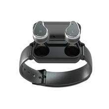 T89 TWS Bluetooth Kopfhörer Smart Uhr Touch control Smart Uhr IP67 Unterstützung Siri BT Anruf musik Fitness Armband Smart Band