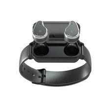 T89 tws bluetooth fone de ouvido relógio inteligente, controle de toque, ip67, suporte siri, bt, chamadas, música, pulseira fitness, pulseira smart