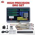 3-осевой DRO набор цифровой индикации с 3 шт 50-1000 мм линейные весы кодировщик для токарно-фрезерный станок настраиваемый Бесплатная доставка
