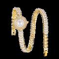 Mode décontracté or jumelage montre Quartz femmes strass montre Bracelet en cuir tressé montre cadeau dames montre Bracelet