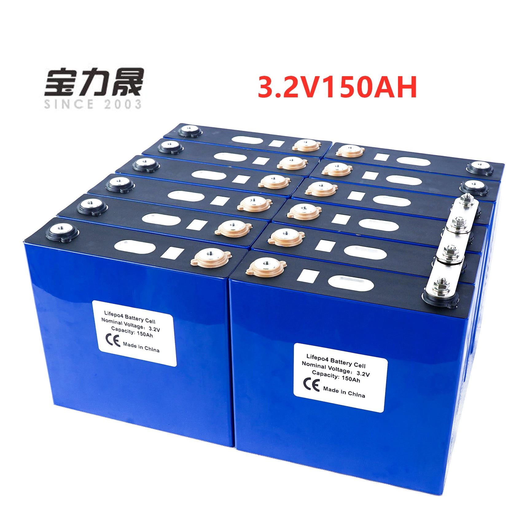 2019 nouveau 16 pièces 3.2V 150Ah Lithium fer Phosphate cellule lifepo4 batterie solaire 24V300AH 48V150Ah cellules pas 120Ah ue US taxe libre