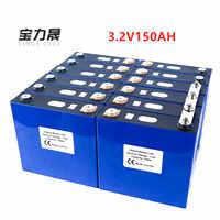 2019 nuevo 16 Uds 3,2 V 150Ah litio hierro fosfato celular lifepo4 batería solar 24V300AH 48V150Ah células no 120Ah EU US libre de impuestos