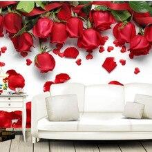 3d wall murals custom photo wallpaper Red rose