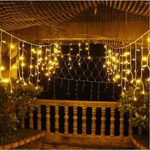 LED Ice Bar Curtain Lamp  Christmas Day Decoration Light String Scene Layout Lights Outdoor