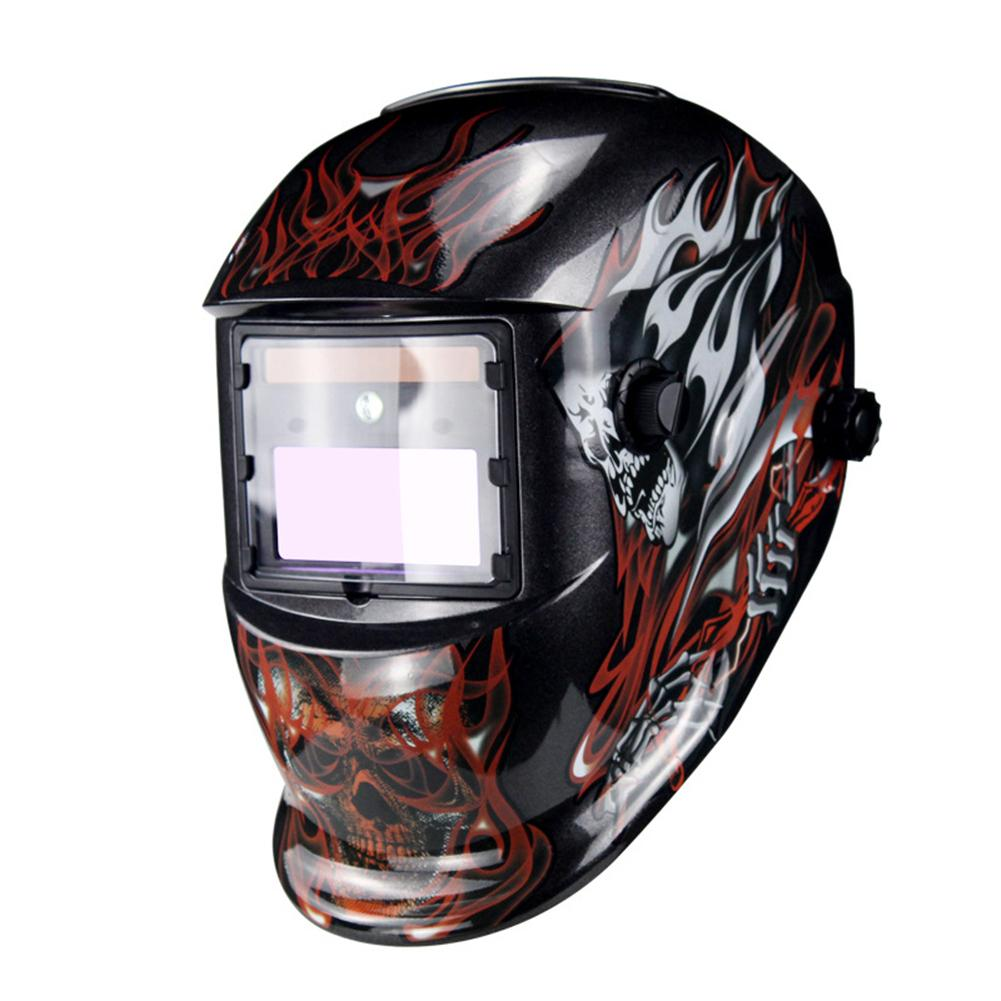 Adjustable LED Lights Solar Energy Auto Darkening Welding Helmet Mask Welder Cap Lens Filter Automatic Shade Mask Goggles Lens