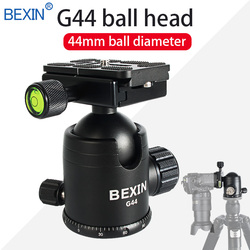 Aluminum Alloy Professional Tripod Ball Head Panorama Adapter Head With One Horizontal Bubble For Dslr Camera Monopod Mount Head
