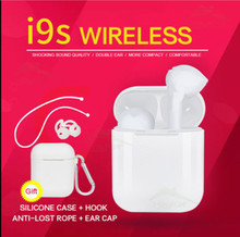 New i9s TWS Bluetooth V5.0 EDR Earphone 1 pairs Wireless Headset With Charging Box Stereo sports  Music Popup No lock Earbuds saenkdea 518 stylish rhinestone bluetooth v3 0 edr music bluetooth headset green silver