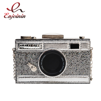 Grey & Black Sequin Design Women Fashion Purses and Handbags Shoulder Chain Bag Female Party Clutch Bag Cross Body Bag Funny Bag fashion women s clutch bag with engraving and stitching design