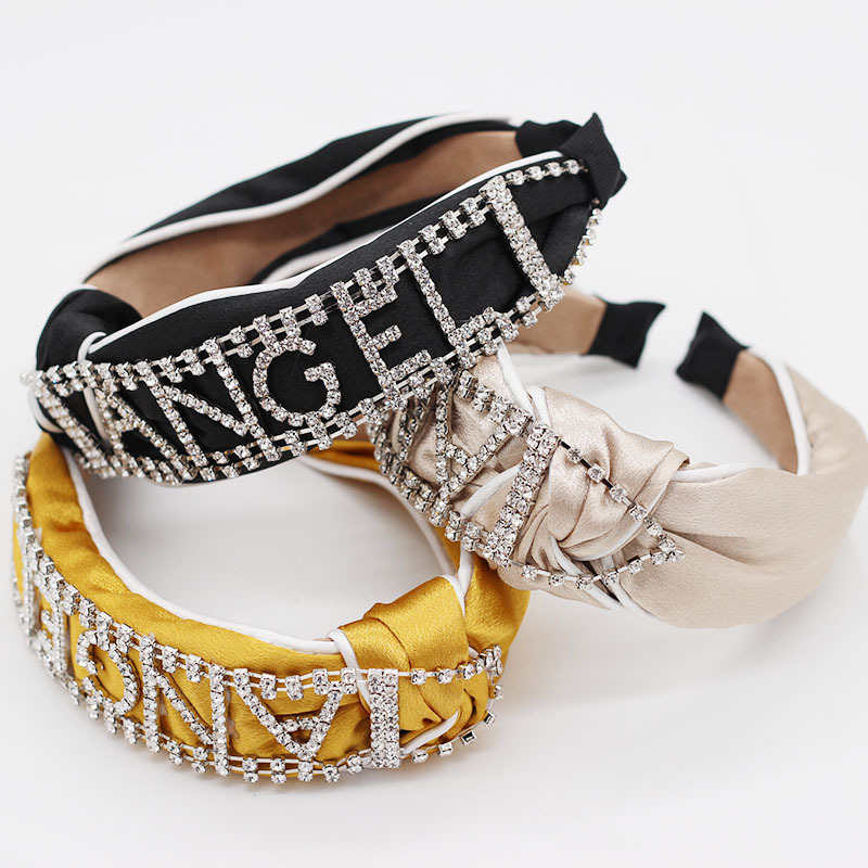 Crystal Rhinestone Hairband Baroque Womens Hair Accessoires Letter Hairbands Luxury Vintage Wedding Bridal Crown 2019