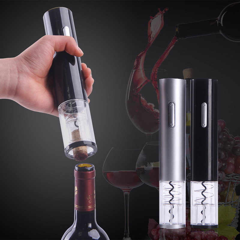 Electric Bottle Opener Plastic Foil Cutter Kitchen Automatic Electric Wine Opener Convenient Orange Whiskey Bar