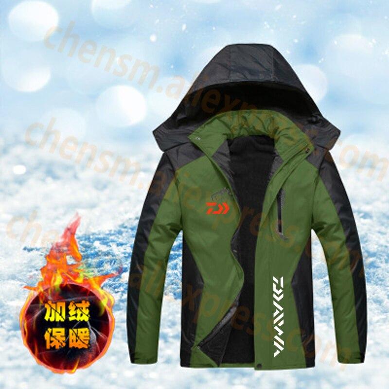 2020 DAIWA Fishing Clothing Winter Autumn Winter Waterproof Warm Fishing Jackets Men Fleece Thick Outdoor Fishing Shirts XL-6XL