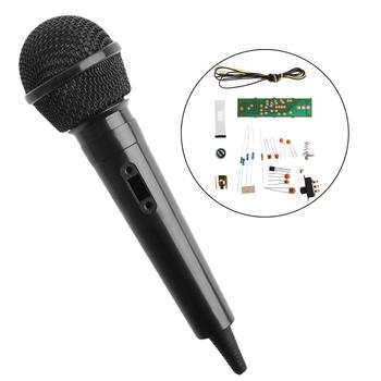 Mikrofon bezprzewodowy zestaw FM szkolenie elektronika produkcja części DIY tanie i dobre opinie OOTDTY Mikrofon ręczny Dynamiczny Mikrofon Karaoke mikrofon Wielu Mikrofon Zestawy Dookólna wireless Electrical components