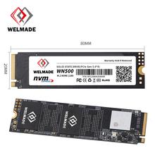 WELMADE SSD M2 NVME 512gb 128gb 256gb 1tb 2tb M 2 PCIE dysk twardy hdd 512gb M 2 2280 PCIE HDD 128gb SSD 512GB tanie tanio Pci express CN (pochodzenie) SMI2263XT Read Max speed Up to 2400MB s Write Max speed up to 1700MB s Pci-e Pulpit Laptop