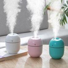 2020 ultrasónico Mini humidificador de aire 200ML difusor de aceites esenciales de Aroma para el hogar coche nebulizador USB fabricante de niebla con lámpara de noche LED