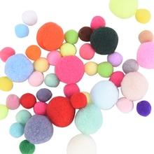 100шт 10% 2F15% 2F20mm DIY Soft Pompoms Balls Kids Toys Wedding Decoration Round Felt Balls Pom Poms Craft Швейные Аксессуары
