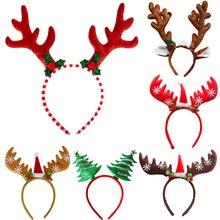 Christmas Headbands Tree Reindeer Antlers Hairband Xmas Kids Baby Hairhoop Party Decor Headwear Hair Accessories Gift