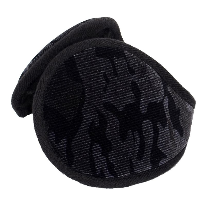 Unisex Winter Camouflage Velvet Earmuffs Plush Lining Behind Head Ear Warmers AXYD