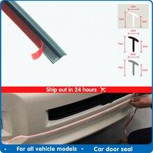 Car Door seal Rubber Sealing Strip Slanted T Type Front bumper Auto Door Seal Rubber Weatherstrip Edge Trim Black For car Rubber