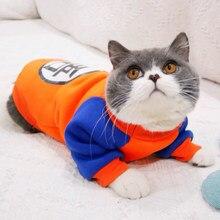 Cartoon Pet kostium kota letnia kamizelka dla kota bluza z kapturem przytulne maski Gotos ubrania dla kotów Katten płaszcz Kedi odzież bluza strój