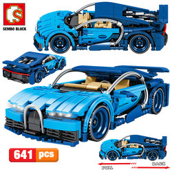 SEMBO 641pcs City Creator Pull Back Mechanical Vehicle Building Blocks Technic Racing Car MOC Model DIY Bricks Toys For Children