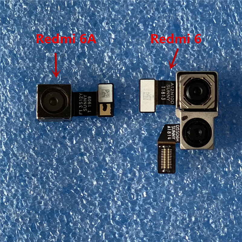 Original Axisinternational For Xiaomi Redmi 6A Rear Back Camera Module Flex Cable For Redmi 6 Global Version Big Main Camera