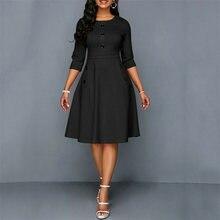 Винтажное осеннее женское платье с длинным рукавом 1950 х годов