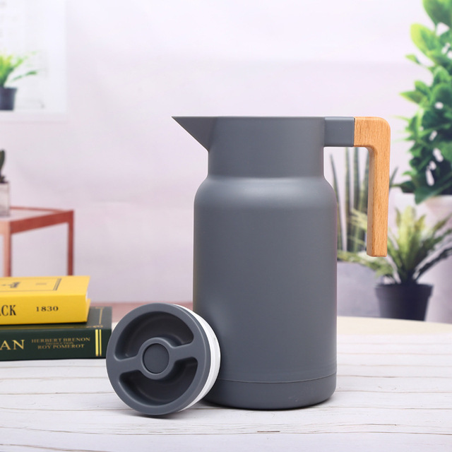 1L Large Household Hot Water Pot Kettle Glass Vacuum Flasks Insulation Thermos Office Coffee Thermal Warmer Bottles Double Wall 4