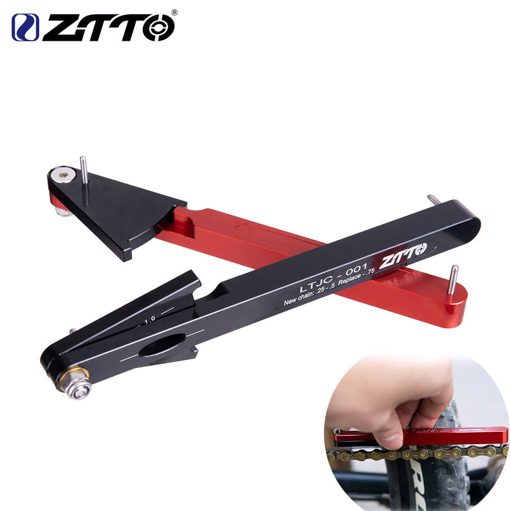 ZTTO New CNC Aluminum Alloy bicycle chain wear indicator tool chain inspection kit bicycle chain multi-function repair tool