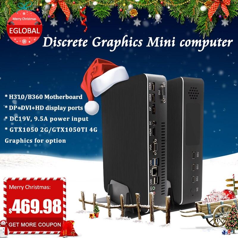 Intel 9TH Gen I3-9100F/I5-9400F 64GB DDR4 GAMING PC GIGABYTE GTX 1050TI M.2 NMVE Mini Pc Windows 10 Pro Mini Computer Webcam Pc