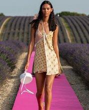 100% فستان حياكة طباعة شذوذ مشترك مثير نعمة