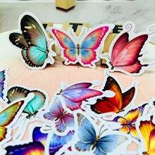 30 pçs borboleta bonita para crianças livro caseiro adesivos no portátil/scrapbooking decorativo/diy