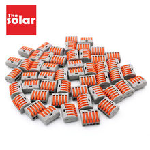 50pcs 222-415 PCT-215 fil connecteur Compact câblage câble connecteur conducteur bornier enfileur levier 0.08-2.5mm2 PCT 215(China)