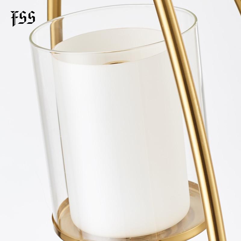 FSS Glass Gold Pendant Lights Creative Indoor Lights Bar Kitchen Island Indoor Lighting Fixtures AC 110