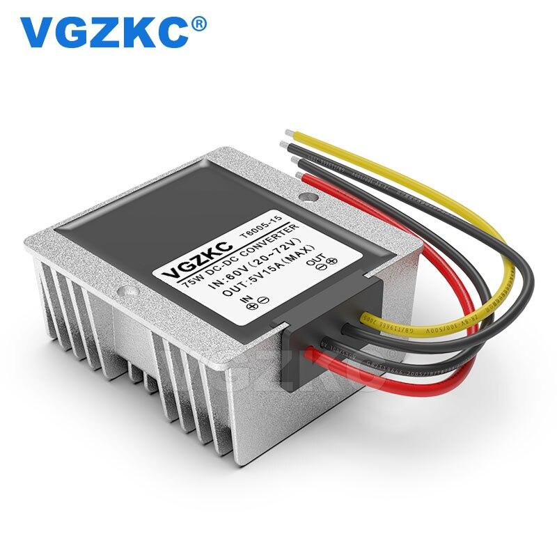 48V 60V to 5V 15A DC step-down power module 60V to 5V 75Wautomotive step DC converter
