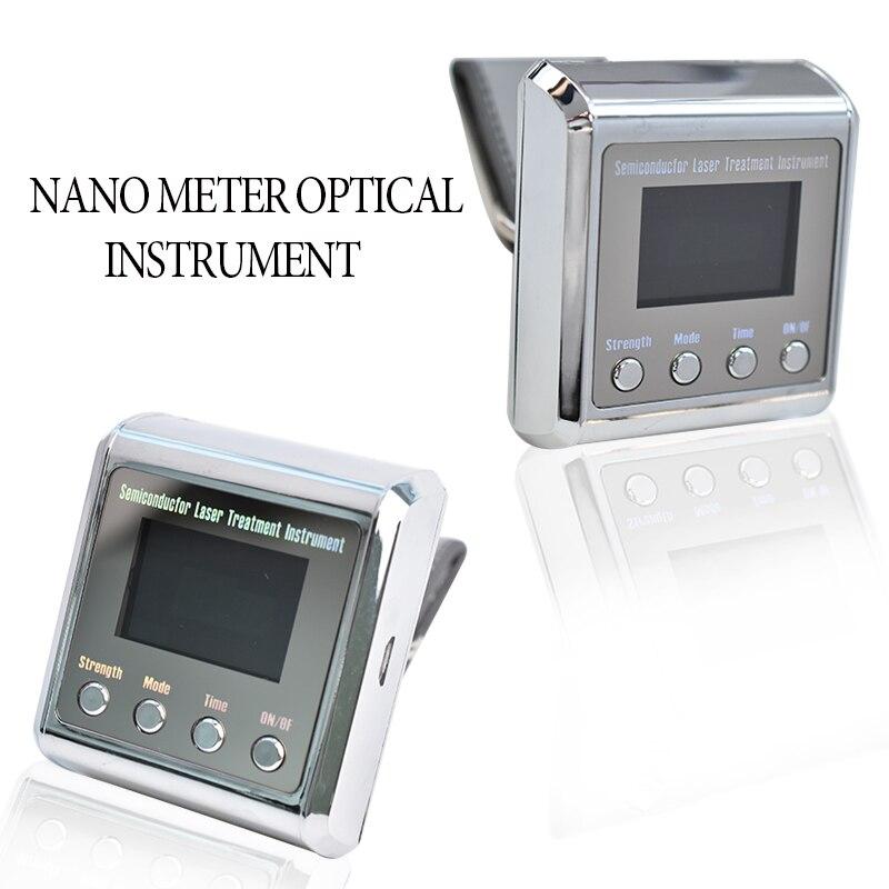 Лазерный диодный аппарат физиотерапии, 650 нм, LLLT для лечения диабета, гипертонии, ринита, лечения высокой крови, наручные часы