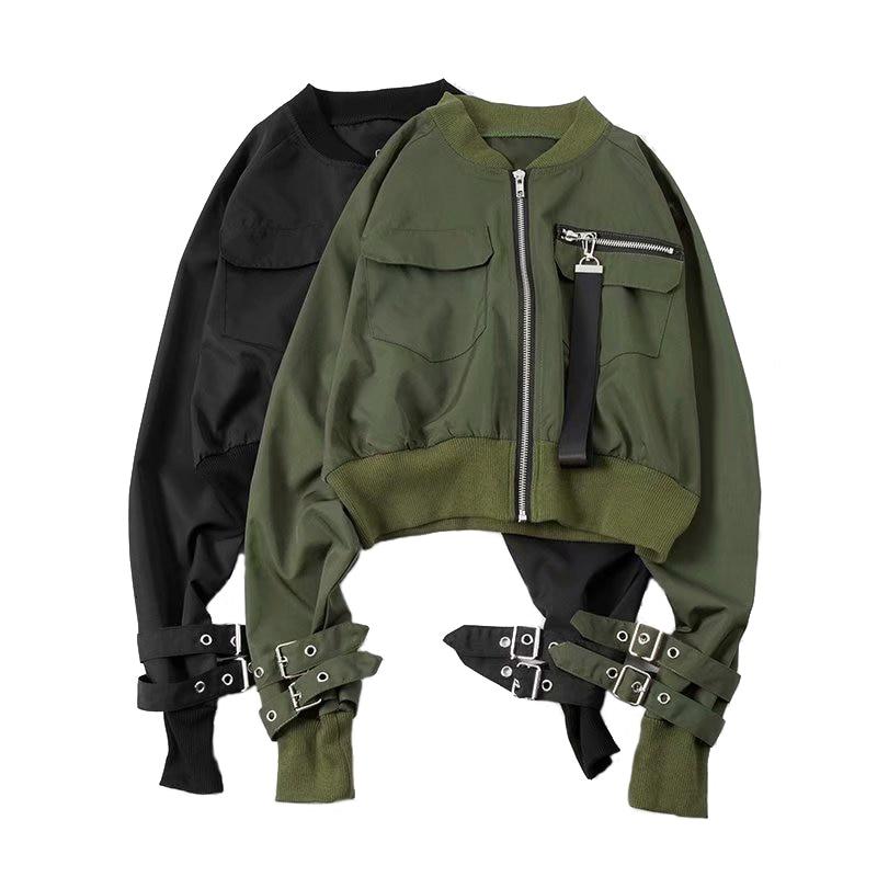 Fashion Bomber   Jacket   Short Top Women Long Mouw   Basic     Jackets   Casual Dunne Top Clothing plus size Short Pilot Bomber   Jackets