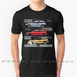 3 In 1 Ef9 Black White Tshirt For Men Women 88 89 90 91 1988 1989 1990 1991 Civic Hatch Hatchback Ef Jdm Si Drift Racing Turbo