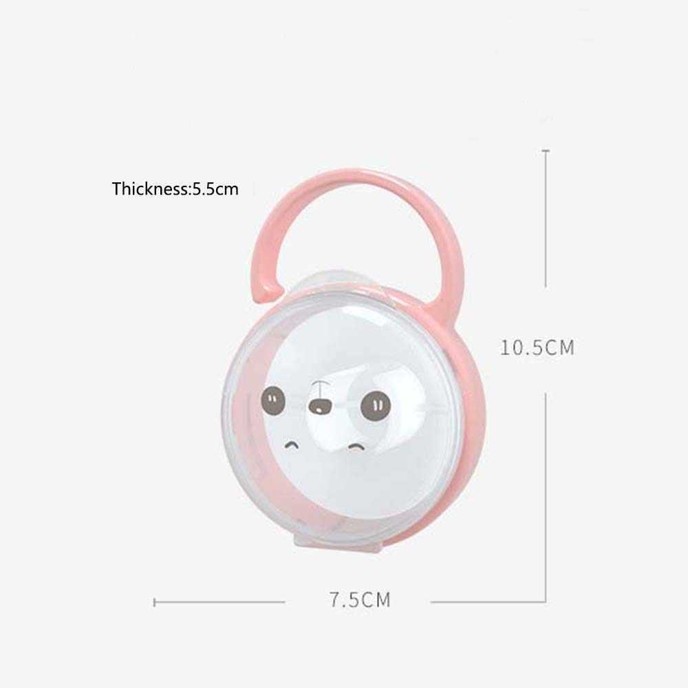 Portable Bayi Dot Puting Anak-anak Kartun Ekspresi Puting Kotak Penyimpanan Tahan Lama Penenang Wadah Dudukan Dot
