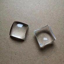цены Square Plano Convex Lens Optical K9 Glass 22*22MM Optical Experiment Condensing Convex Lens Lens