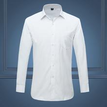 Biały 2020 gorąca sprzedaż czarna koszula smokingi dla pana młodego drużba ślub Groomsmen formalna okazja męskie koszule M-XXXXL 4XL tanie tanio COTTON Poliester Tuxedo koszule Pełna Skręcić w dół kołnierz Pojedyncze piersi REGULAR Suknem Formalne Stałe Shirts