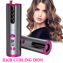 Curler Waves-Iron Temperature Rotating-Hair Cordless Automatic USB Led-Display Rechargeable