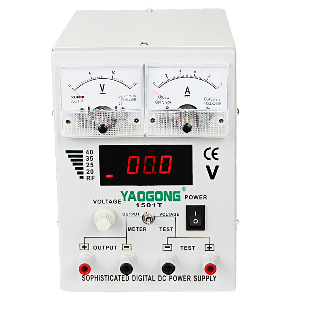 YAOGONG 1501T Mobile Phone Repair Power Supply  Repairs Dedicated Adjustable DC Power Supply 15V 1A Automatic Protection